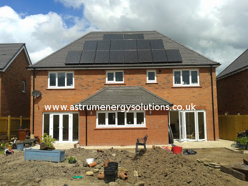 Solar panel installation in Chester